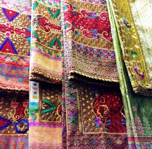 Beautiful Songket, Palembang traditional fabric